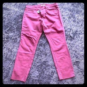Ann Taylor Loft pink crops